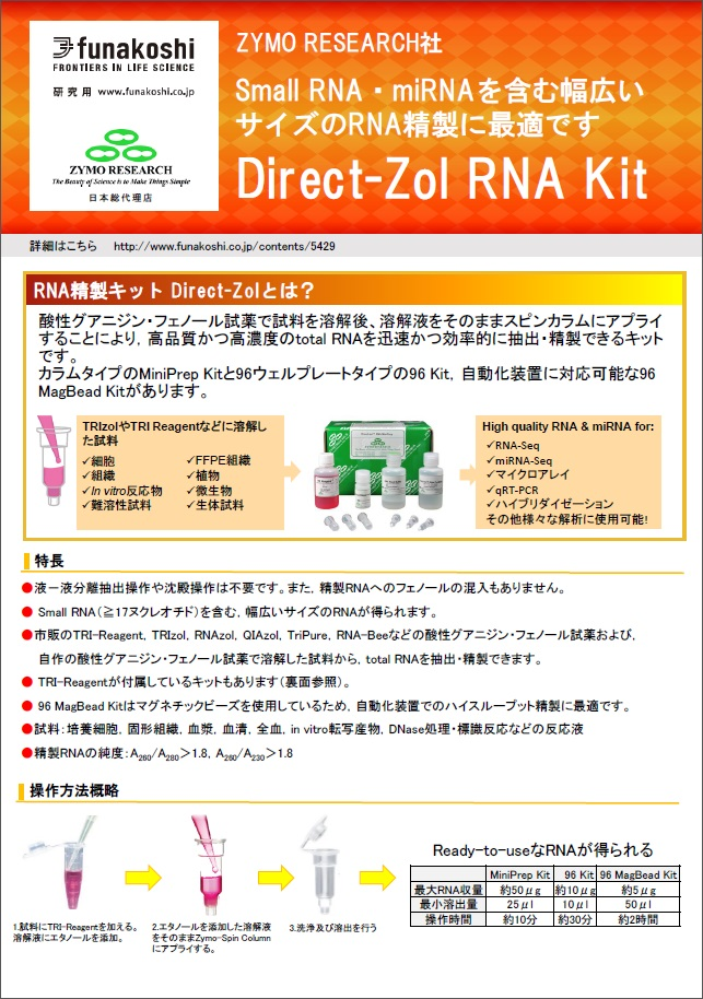 Direct-zol RNA Kitフライヤー